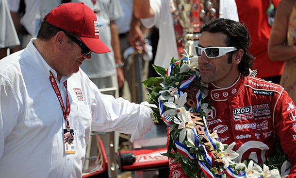 Chip Ganassi with Dario Franchitti in 2012