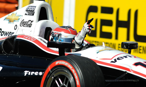 Will Power on Long Beach Victory Lap